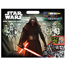 Buy Star Wars Episode VII: The Force Awakens Artist Colour & Sticker Pad Online at johnlewis.com