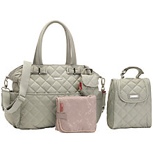 Buy Storksak Bobby Changing Bag, Putty Online at johnlewis.com