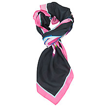 Buy French Connection Dreams Are Free Roz Silk Scarf, Black/Multi Online at johnlewis.com