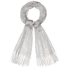 Buy Phase Eight Mira Shimmer Scarf, Silver Online at johnlewis.com