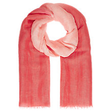 Buy Jigsaw Linen Blend Dip Dye Scarf, Coral Online at johnlewis.com