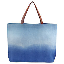 Buy Jigsaw Dip Dye Beach Bag, Blue Online at johnlewis.com