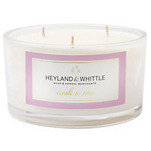Buy Heyland & Whittle Neroli & Rose Triple Wick Scented Candle Online at johnlewis.com