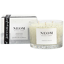Buy Neom Perfect Peace 3 Wick Candle Online at johnlewis.com