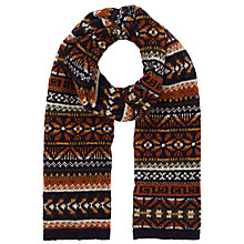 Buy JOHN LEWIS & Co. Nomad Pattern Fair Isle Wool Scarf, Multi-Coloured Online at johnlewis.com