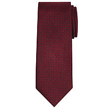 Buy CK Calvin Klein Circle Print Semi Plain Silk Tie, Burgundy Online at johnlewis.com