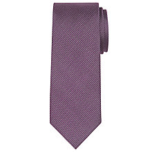 Buy CK Calvin Klein Semi Plain Silk Tie, Berry Online at johnlewis.com