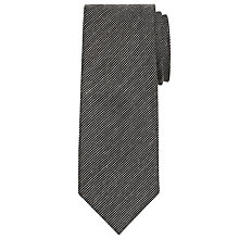 Buy CK Calvin Klein Semi Plain Tie, Black Online at johnlewis.com