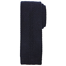 Buy John Lewis Made in Italy Pure Cashmere Knit Tie, Navy Online at johnlewis.com