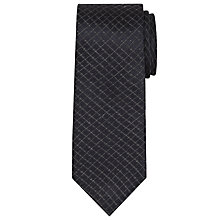 Buy CK Calvin Klein Broken Check Silk Tie, Navy Online at johnlewis.com