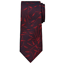 Buy CK Calvin Klein Tonal Leaf Silk Tie, Wine Online at johnlewis.com