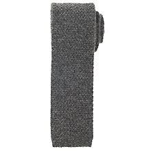 Buy John Lewis Made in Italy Pure Cashmere Knit Tie, Grey Online at johnlewis.com
