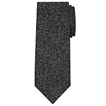 Buy CK Calvin Klein Tonal Floral Tie, Charcoal Online at johnlewis.com