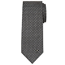 Buy CK Calvin Klein Geo Design Tie, Black Online at johnlewis.com