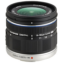 Buy Olympus M.ZUIKO DIGITAL ED 9‑18mm f4‑5.6 Compact Ultra Wide Angle Zoom Lens Online at johnlewis.com