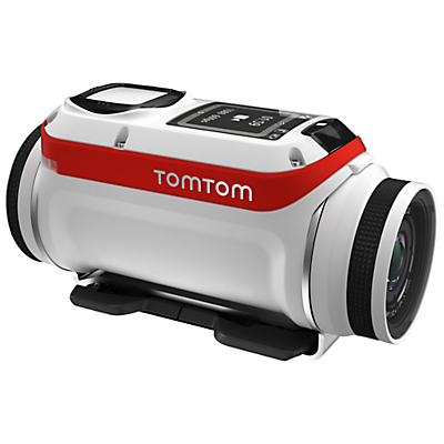 TomTom Bandit Premium GPS Action Camera, HD 1080p, 16MP, Bluetooth, Wi-Fi with Splashproof Lens Cover, GoPro Adapter, Handle Bar Mount & 360 Pitch Mount