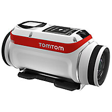 Buy TomTom Bandit Premium GPS Action Camera, HD 1080p, 16MP, Bluetooth, Wi-Fi with Splashproof Lens Cover, GoPro Adapter, Handle Bar Mount & 360 Pitch Mount Online at johnlewis.com