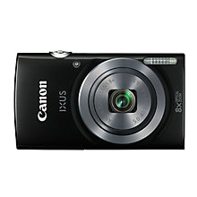 "Buy Canon IXUS 162 Digital Camera, HD 720p, 20MP, 8x Optical Zoom, 16x Zoom Plus, 2.7"" LCD Screen with Wrist Strap, Case & 8GB Memory Card Online at johnlewis.com"