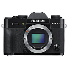 "Buy Fujifilm X-T10 Compact System Camera, HD 1080p, 16.3MP, Wi-Fi, 3"" Tilting LCD Screen, Body Only Online at johnlewis.com"
