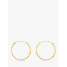 Buy IBB 9ct Gold Hoop Earrings, Gold Online at johnlewis.com