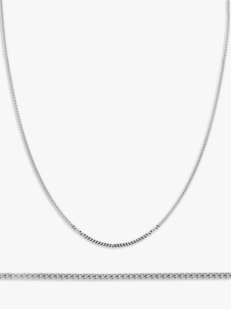 IBB IBB 18ct Gold Diamond Cut Curb Chain Necklace