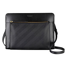 Buy Radley Clerkenwell Medium Leather Across Body Bag, Black Online at johnlewis.com