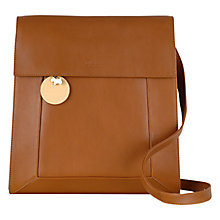 Buy Radley Border Leather Cross Body Bag, Tan Online at johnlewis.com