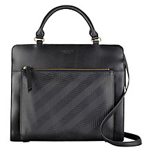Buy Radley Clerkenwell Medium Leather Multiway Bag, Black Online at johnlewis.com