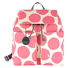 Buy Radley Spot On Fabric Backpack, Pink Online at johnlewis.com