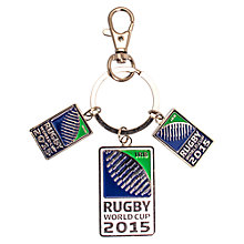 Buy Awnhill Rugby World Cup Tagged Keyring, Multi Online at johnlewis.com