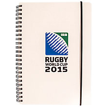 Buy Awnhill Rugby World Cup 2015 A5 Notebook, White Online at johnlewis.com