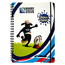 Buy Awnhill Rugby World Cup 2015 Shaun the Sheep Notebook, Multi Online at johnlewis.com
