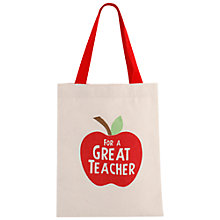 Buy Container Group Thank You Teacher Tote Bag, Small Online at johnlewis.com