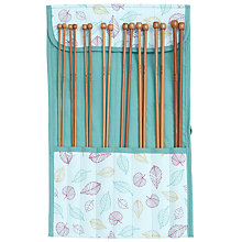 Buy John Lewis Leaf Knit Roll and Knitting Needles, Mint Online at johnlewis.com