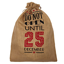 Buy John Lewis 'Do Not Open' Jute Christmas Sack Online at johnlewis.com