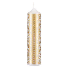 Buy John Lewis Enchantment Snowflake Pillar Advent Candle, Gold Online at johnlewis.com