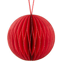 Buy John Lewis Midwinter Paper Concertina Bauble, Red Online at johnlewis.com