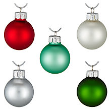 Buy John Lewis Different Perspective Mini Glass Baubles, Pack of 27, Multi Online at johnlewis.com