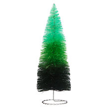 Buy John Lewis Ombre Tabletop Tree Decoration, Green Online at johnlewis.com