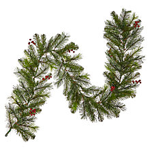 Buy John Lewis Pre-Lit Balmoral Berry Garland Online at johnlewis.com