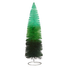Buy John Lewis Ombre Large Tabletop Tree Decoration, Green Online at johnlewis.com