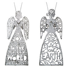 Buy John Lewis Snowdrift Metal Angels Tree Decoration, Assorted Online at johnlewis.com