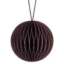 Buy John Lewis Midwinter Paper Concertina Bauble, Purple Online at johnlewis.com