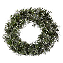 Buy John Lewis Pre-Lit White and Glitter Wreath Online at johnlewis.com