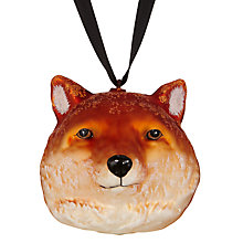 Buy John Lewis Midwinter Glass Fox Head Online at johnlewis.com