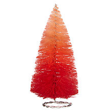 Buy John Lewis Ombre Christmas Tree Tabletop Decoration, Small, Red Online at johnlewis.com