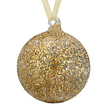 Buy John Lewis Enchantment Clear Glass Bauble, Textured with Glitter Online at johnlewis.com