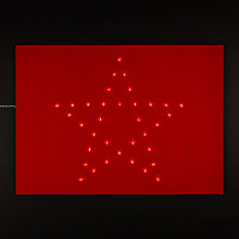 Buy John Lewis Red Star Lightup Doormat Online at johnlewis.com