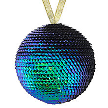 Buy John Lewis Boutique Iridescent Sequin Bauble, Green and Blue Online at johnlewis.com