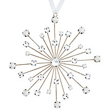 Buy John Lewis Enchantment Jewelled Metal Snowflake Online at johnlewis.com